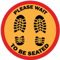 Please Wait To Be Seated Sticker
