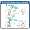 Cover Cough Clean Hands Sticker