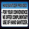Hand Sanitizer Provided Sticker