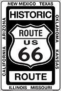Historic Route 66 Metal Sign 8 x 12