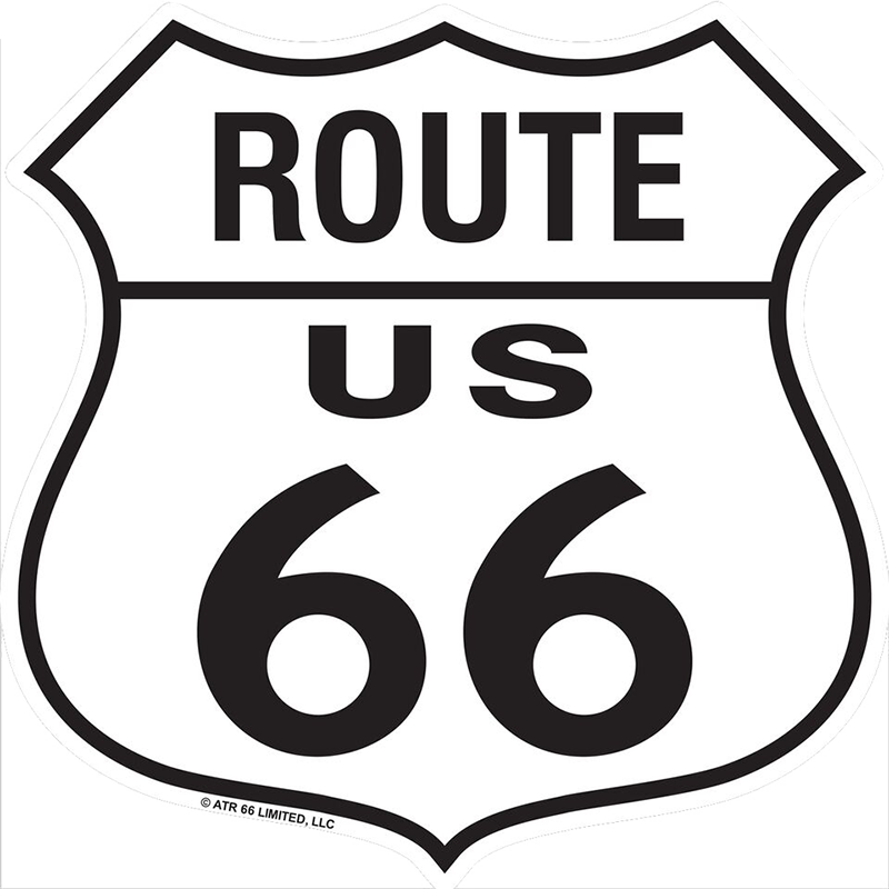 Route 66 Metal Shield Sign