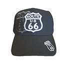 Black Route 66 Shield Embroidered Hat