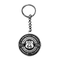 Round 8 State Route 66 Metal Shield Key Chain