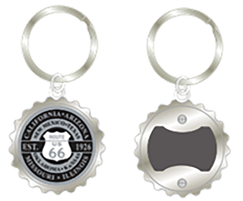 Round Bottle Cap Metal Key Chain