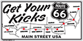 Route 66 Map License Plate