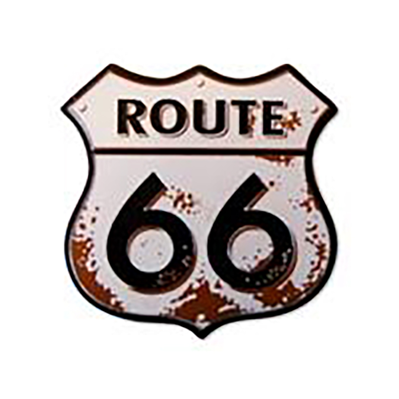 Route 66 Rusty Shield Molded Magnet