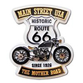 Large Route 66 Main Street USA Molded Magnet
