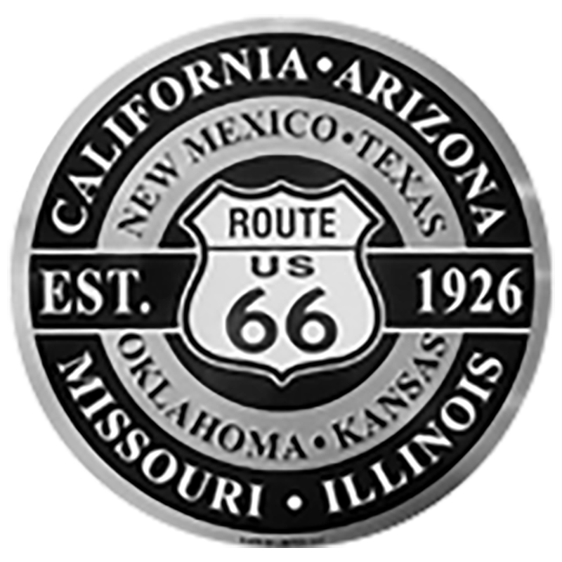 Large Round Route 66 Molded Magnet