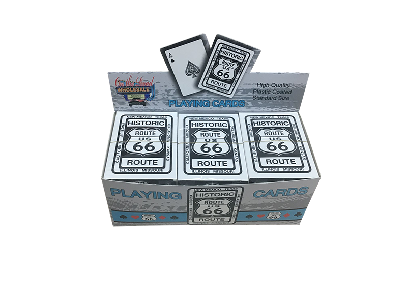 Route 66 Playing Cards with Display Unit