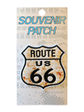 Route 66 Rusty Shield Iron On Patch