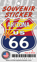 Arizona Route 66 Flag Shield Sticker