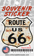 Route 66 Rusty Shield Sticker