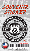 Route 66 Round Design Sticker