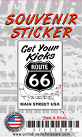 Route 66 Map Sticker