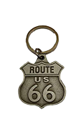 Antique Route 66 Metal Shield Key Chain