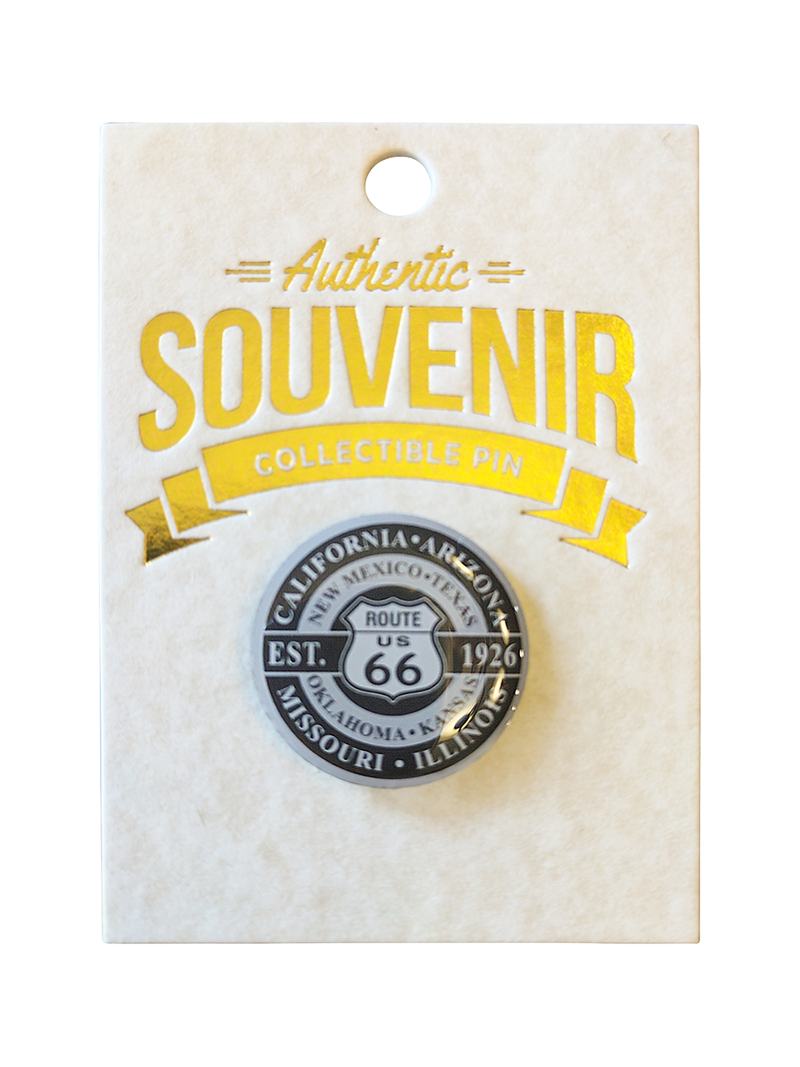 Route 66 Round Design with Backer Card