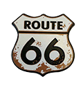 Small Rusty Route 66 Molded Magnet
