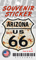 Arizona Route 66 Rusty Shield Sticker