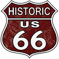 Historic US 66 Shield Sign